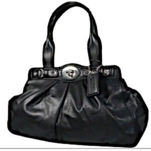 Handbags - Coach black leather Garnet satchel F13914